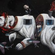 Pop surrealism, pop surrealismo, pigneto, roma, nero gallery, galleria d'arte